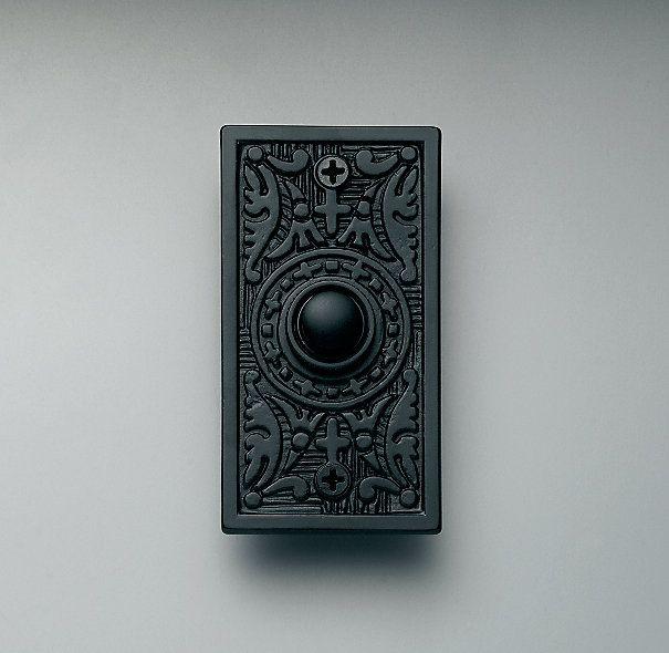 Rectangular Embossed Doorbell Vintage Mailbox