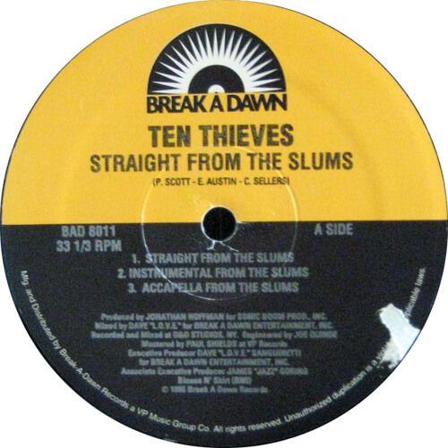 Ten Thieves Straight From The Slums Break A Dawn Records Vinyl Record Store Thief Ten