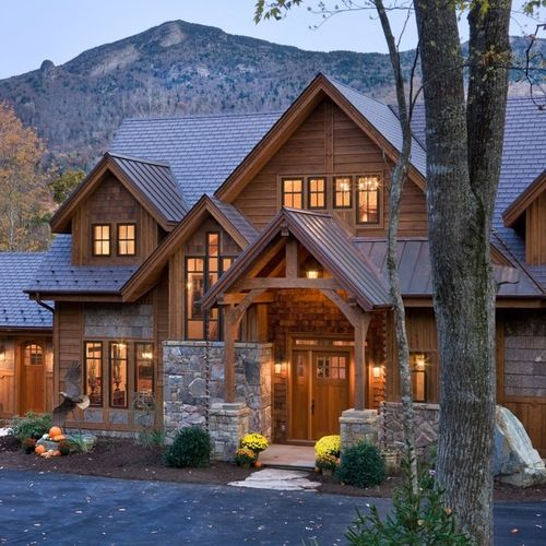 Custom Home built at the foot of Grandfather Mountain within the gates of Tynecastle