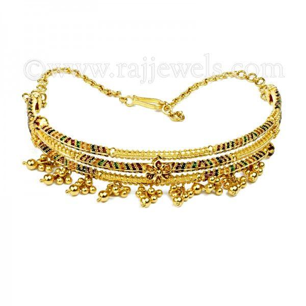 Enamel Arm Bracelet Bracelets and Gold