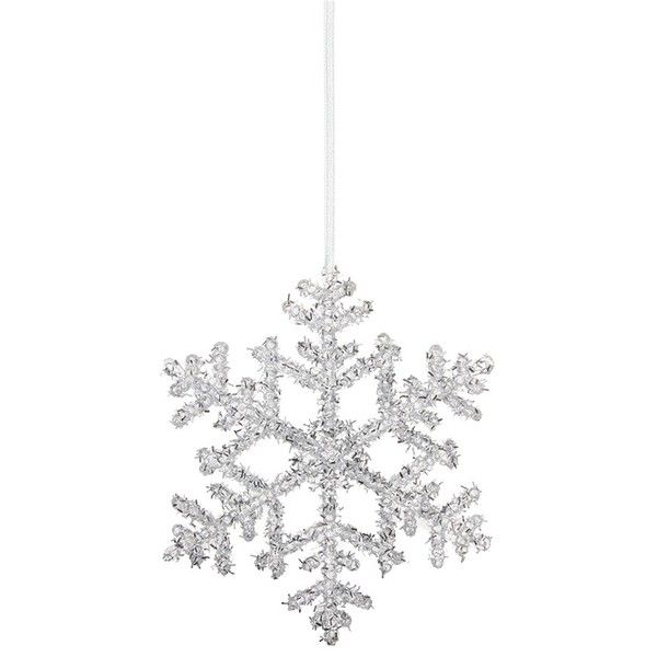 Shishi As Glitter snowflake Christmas ornament (39 HKD) ❤ liked on Polyvore featuring home, home decor, holiday decorations, christmas holiday decor, xmas tree ornaments, glitter ornaments, christmas home decor and glitter christmas ornaments