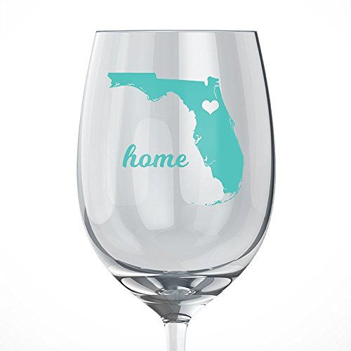 Florida Home Wine Glass -- You can find out more details at the link of the image.