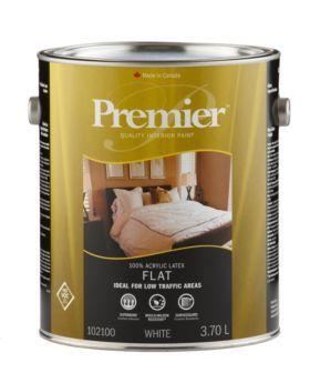 Premier White 3.7 L Interior Acrylic Latex Paint, Flat | Canadian Tire  $26.99