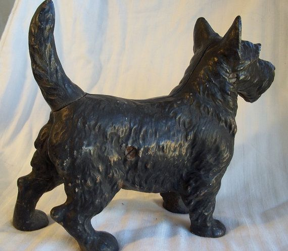 Vintage Scottie Dog Cast Iron Doorstop $215