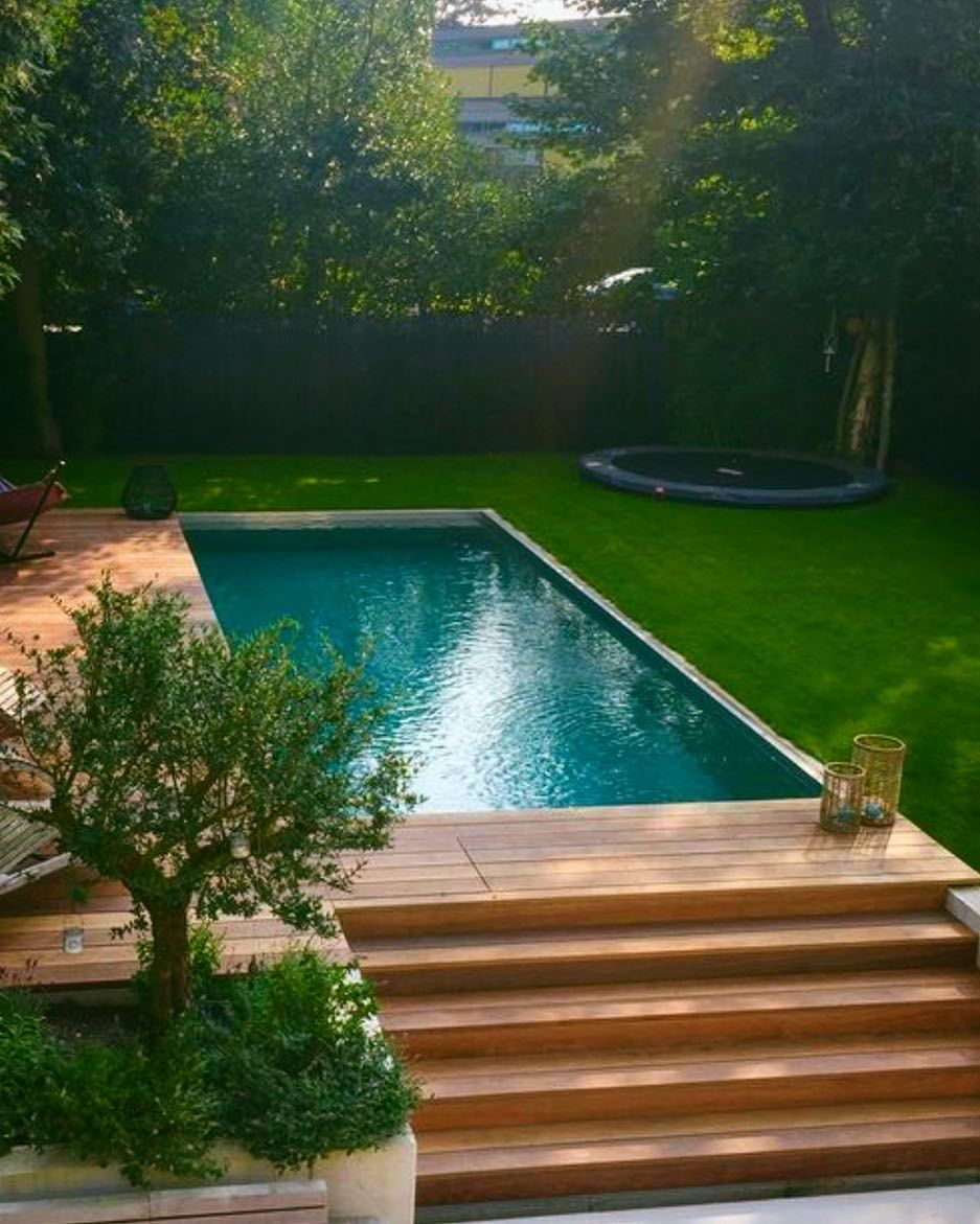 Modular Pools Are Beautiful Eco Friendly And Quick To Install Modpools Poolgoals Swimmingpool Pools Woodde Small Backyard Pools Backyard Backyard Patio