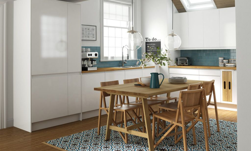 dining room with patterned tiles - Google Search | Ideas for the ...