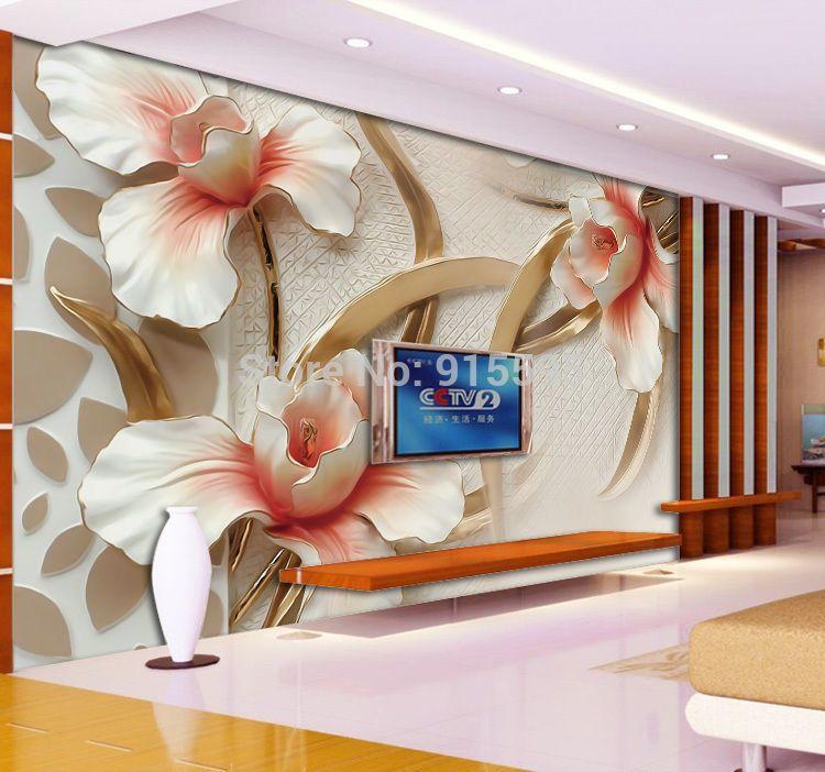3D Wallpaper Bedroom Mural Roll Modern Lily Flower Large