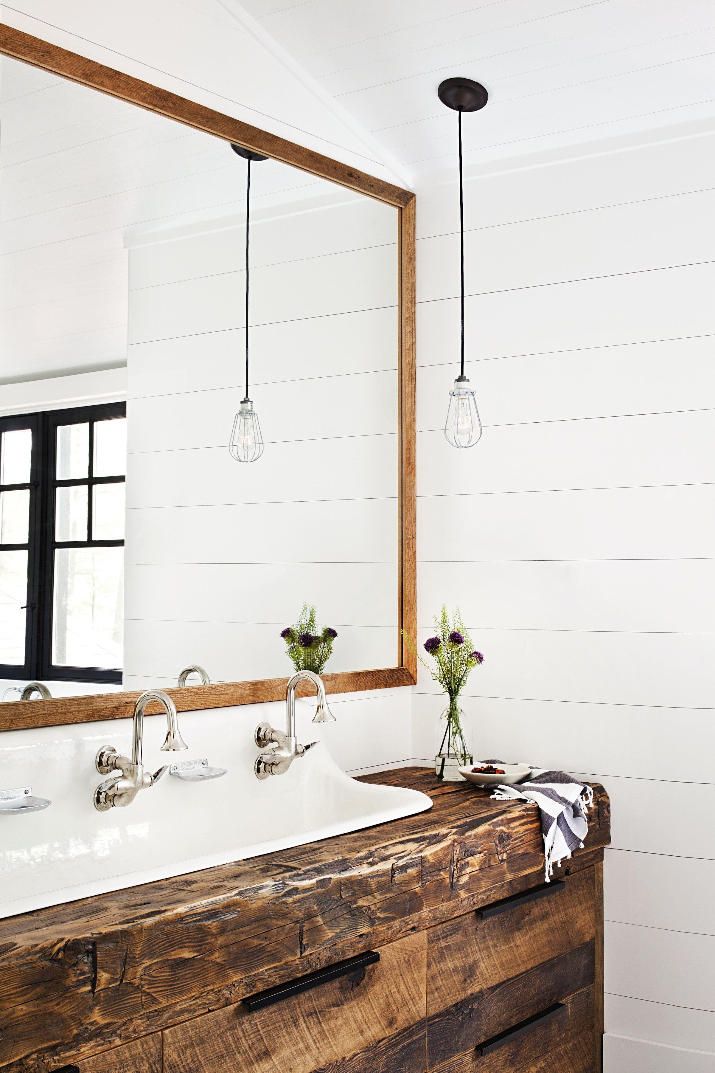 Muskoka Cottage - Bathroom   Rustic/Barn   Pinterest   Trough sink ...