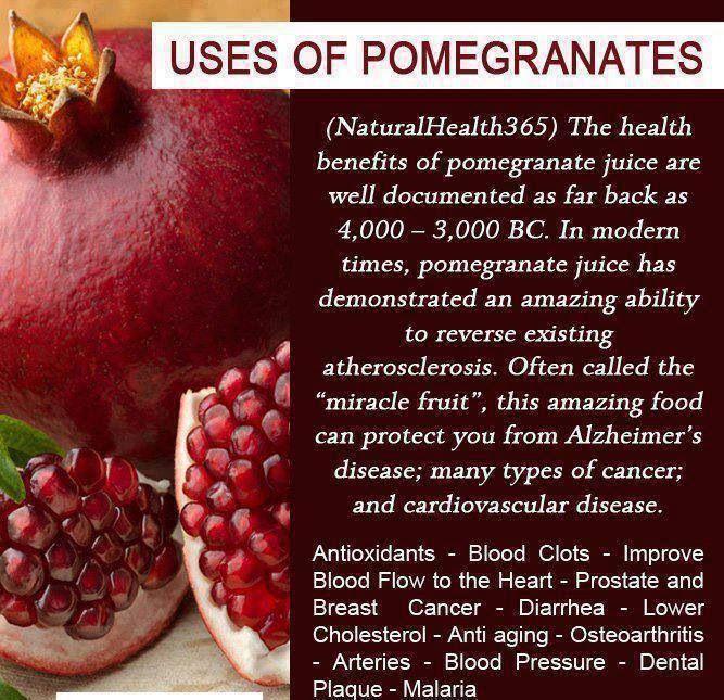 Uses of pomegranates