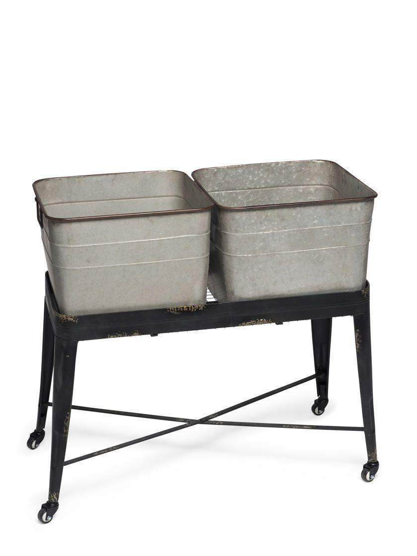 Wash Tub Planter Elevated Garden Metal Wash Tub Planter Metal Wash Tub Wash Tubs Galvanized Wash Tub
