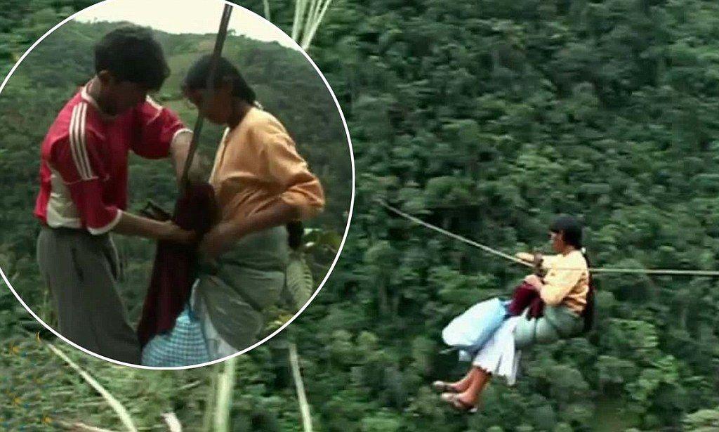 Yungasin vaijeriliukuja sanotaan maailman nopeimmiksi silloiksi. Niitä pitkin kokaviljelijät ja muut paikalliset vilahtavat viidakon yli jopa 40 km/h. Pisimmillään liu'ut ovat 400-metrisiä. 'We fly faster than astronauts': Meet the Bolivians who defy death to soar across 650ft high valleys on zip lines.