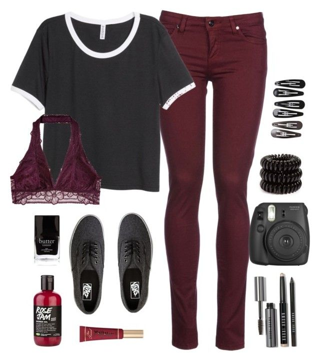 """"""".009 fuller house is """" by lizzielane33 on Polyvore featuring 8, H&M, Vans, Beauty Secrets, Too Faced Cosmetics, Butter London, Bobbi Brown Cosmetics, Invisibobble and Clips"""