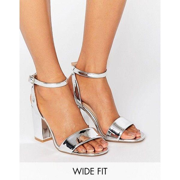 ASOS HERON Wide Fit Heeled Sandals ($46