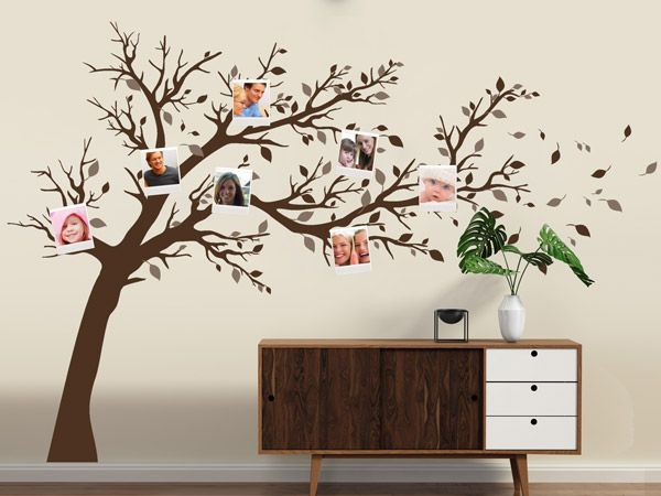 wandtattoos mit bilderrahmen kombiniert polaroid foto. Black Bedroom Furniture Sets. Home Design Ideas