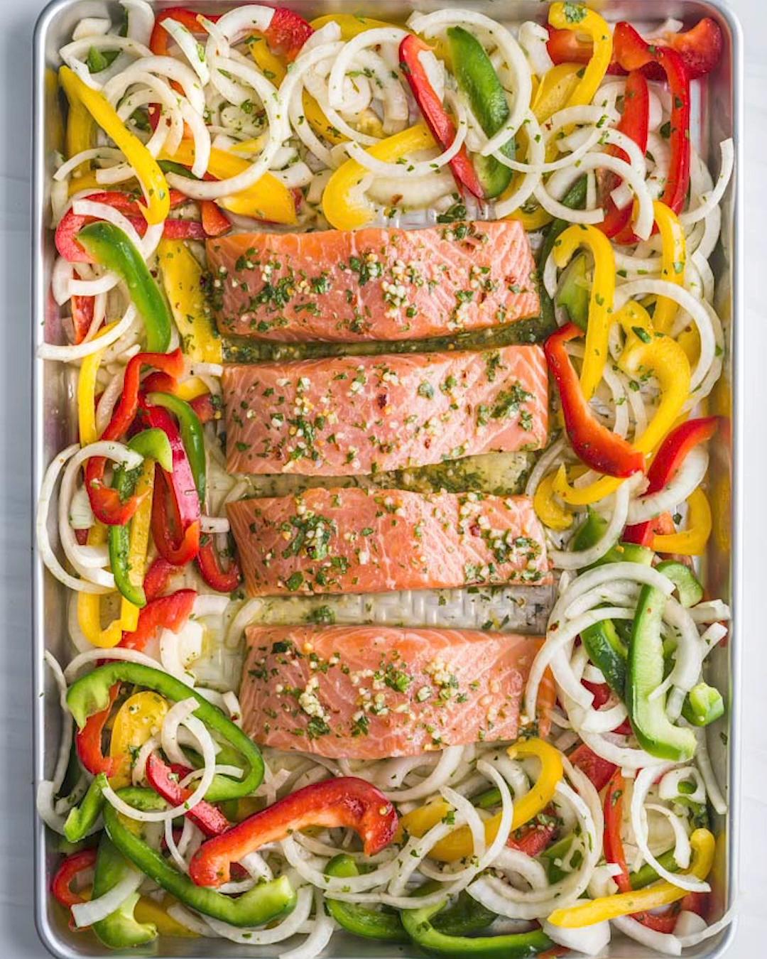 Sheet Pan Garlic Lime Salmon images