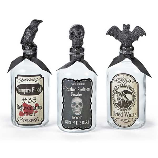 Decorative Potion Bottles for Halloween from Tuesday ...