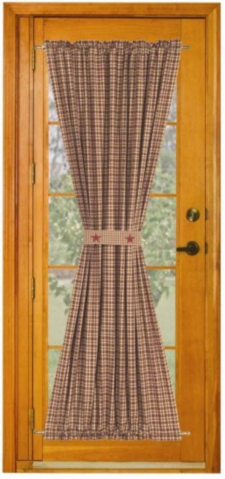 Kitchen French Door Curtains Vintage Star Wine Country Style French Door Panel By Ihf Sewing