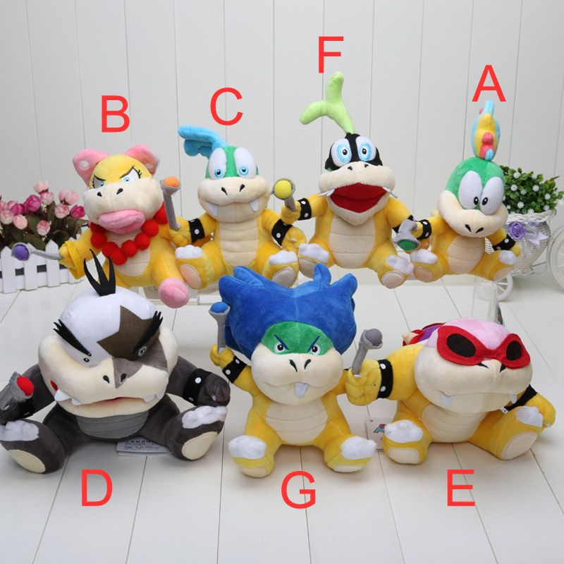 Caliente venta 1 unids Super Mario Koopalings juguetes de peluche ...