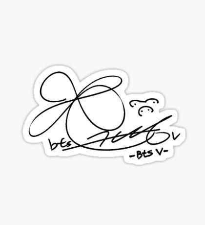 Bts Stickers Bts V Bts Signatures Taehyung