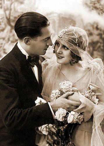 Flapper Bride Vintage Wedding Photos Vintage Couples Vintage Bridal