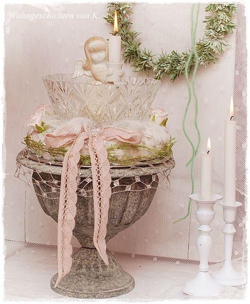 adventskranz adventskranz vintage engel shabby. Black Bedroom Furniture Sets. Home Design Ideas