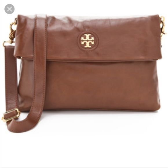 ac71df459d07 AUTHENTIC Tory Burch Dena fold over crossbody  NO TRADES  Tory Burch -  brown