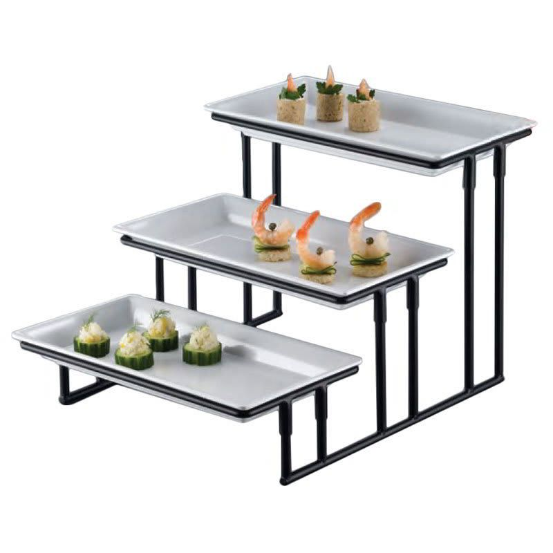 American Metalcraft Is18 3 Tier Display Stand W Stair Step Wrought Iron American Metalcraft Wrought Buffet Stand
