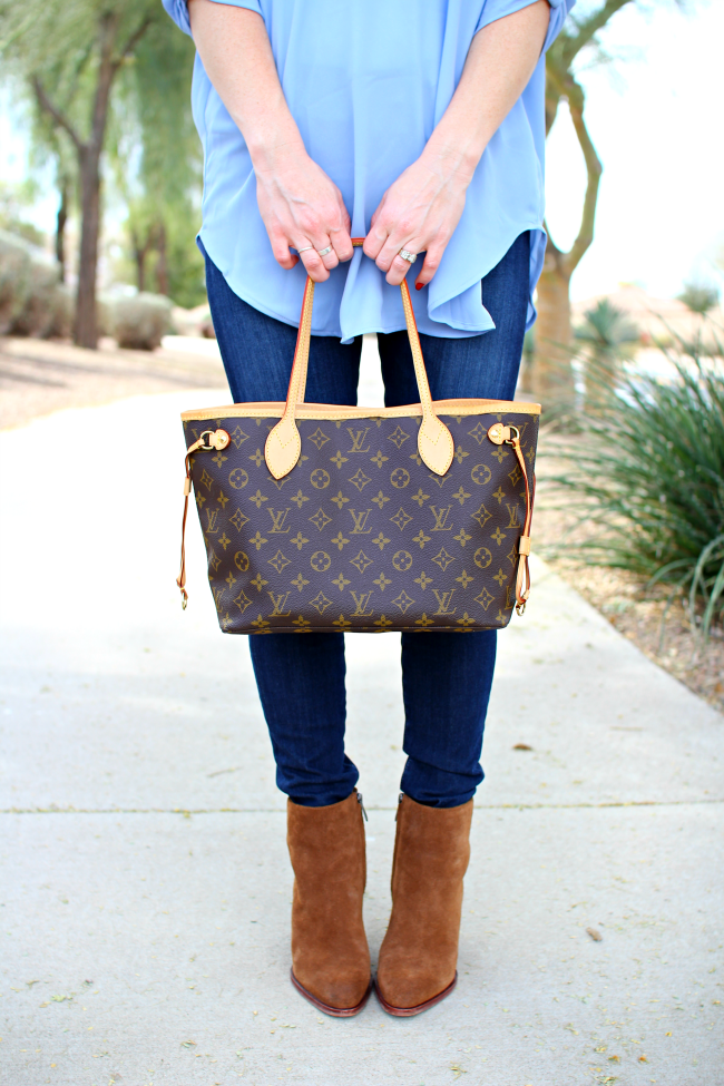 ad6905a83c7 OOTD feat. the Louis Vuitton Neverfull PM Monogram Purse Bag + Mini Review    Arm Candy  3   Pinterest   Louis vuitton neverfull pm, Louis vuitton and  ...