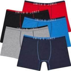 Photo of Smith And Jones Men's Plus Size Divided Five Pack Boxer Shorts Navy Smith and JonesSmith and Jones
