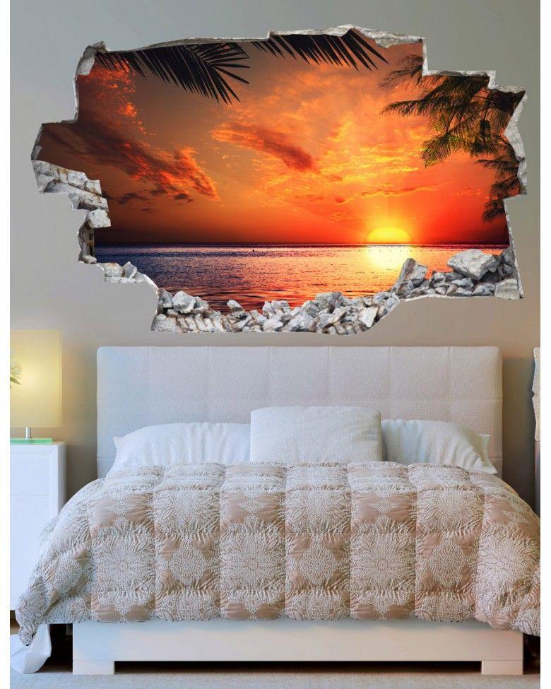 Cabecero cama 3d home pinterest tapeten w nde y schlafzimmer tapete - Wandmalerei wohnzimmer ...