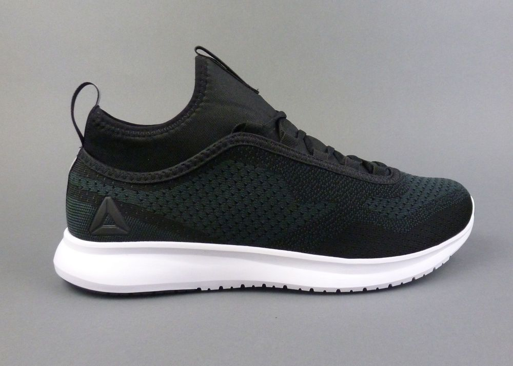 8949bd9a51d2a0 Reebok men s Plus Runner Print running shoes sneakers trainers Black White