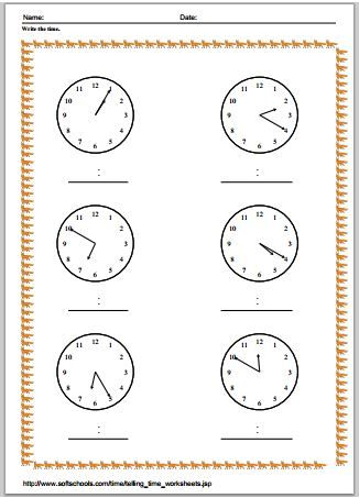 Printable Time Worksheets In Pdf Time Worksheets Math Pages Math Tutor
