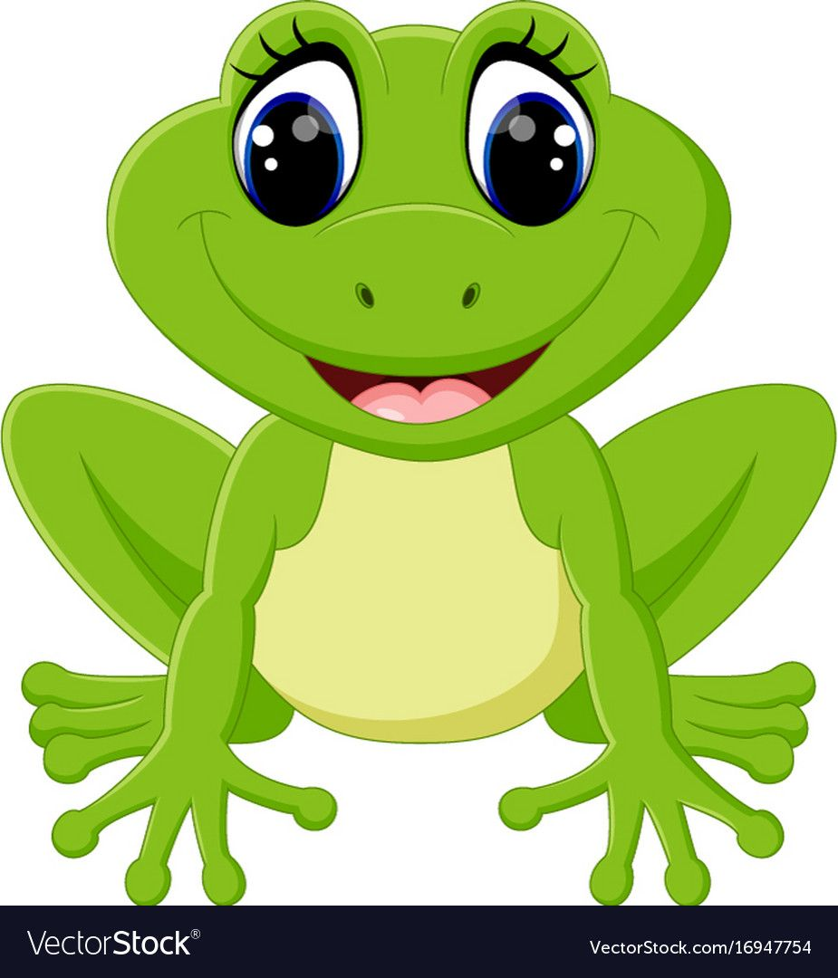 Illustration Of Cute Frog Cartoon Download A Free Preview Or High Quality Adobe Illustrator Ai Eps Pdf And High Resolution Frog Art Cute Frogs Frog Drawing
