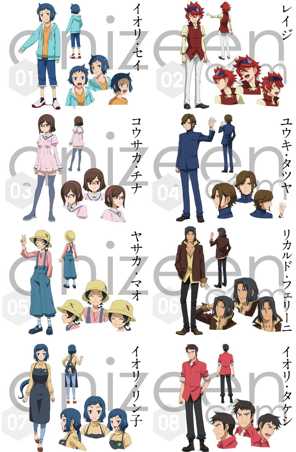 Characters in the gundam build fighters anime meet sei for Domon gundam build fighters try