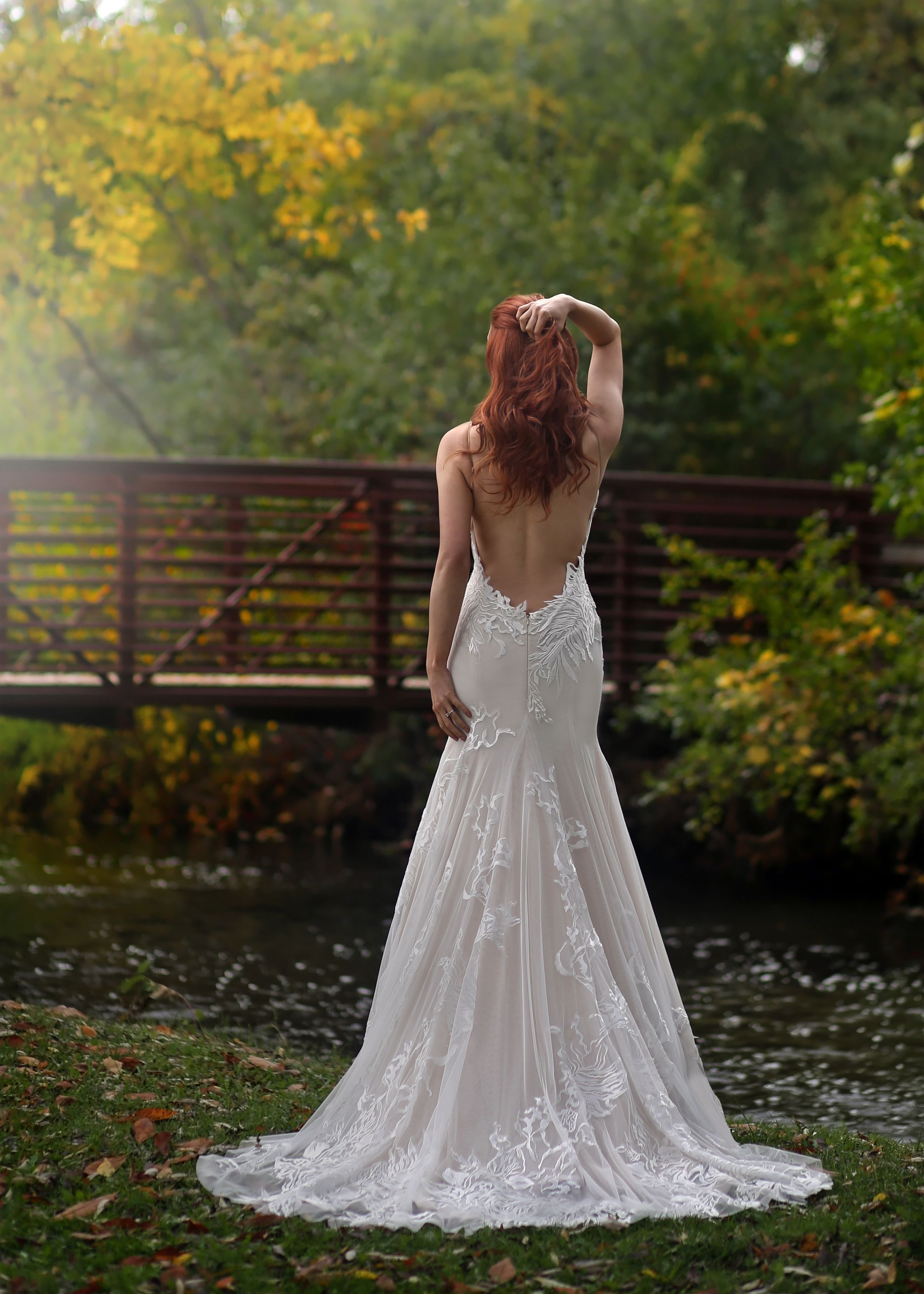 Marisa Bridals low back lace wedding dress from Solutions Bridal in ...