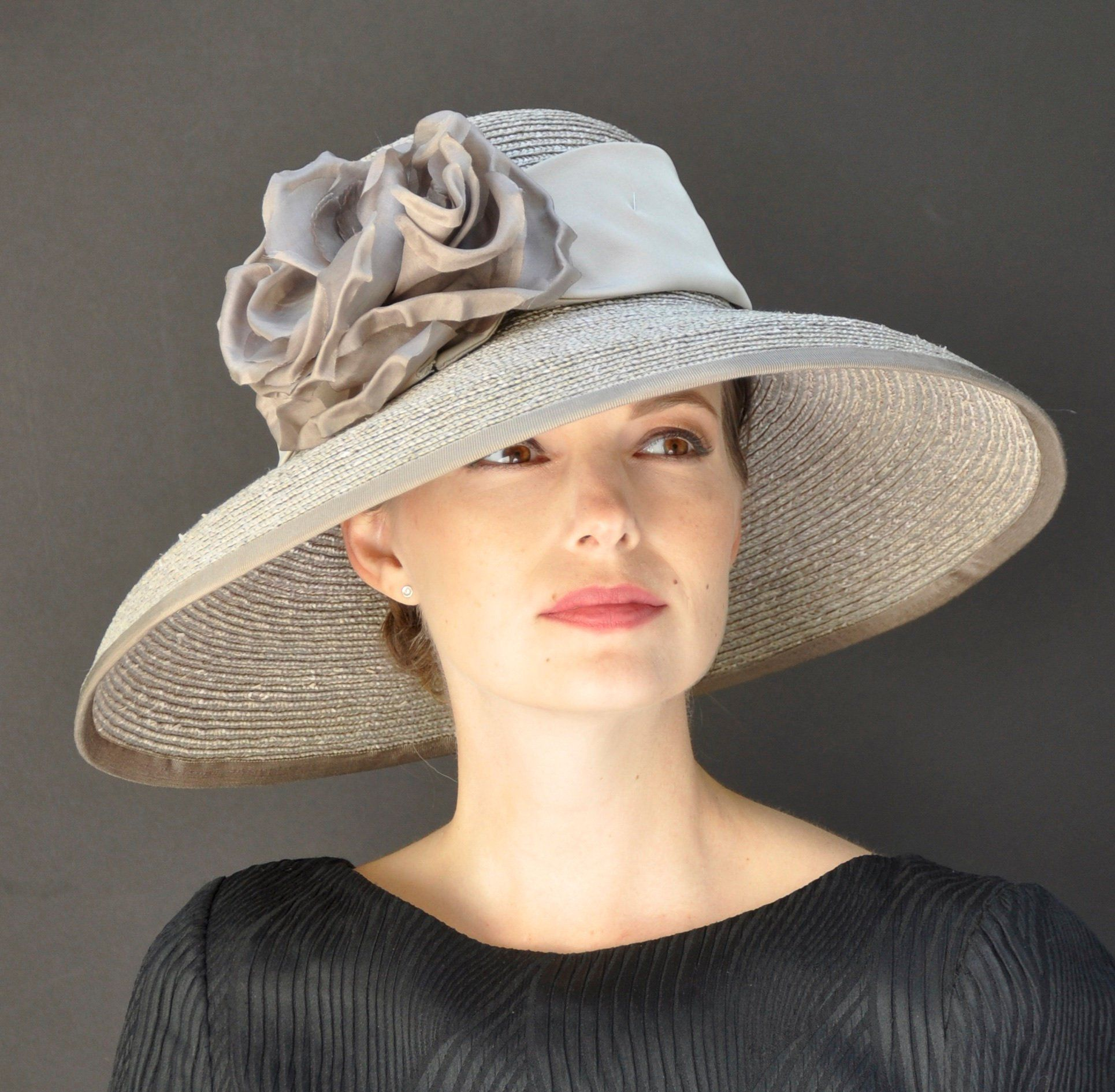 Hut Fashion In Milan: Wedding Hat, Formal Hat, Occasion Hat, Taupe Hat, Audrey