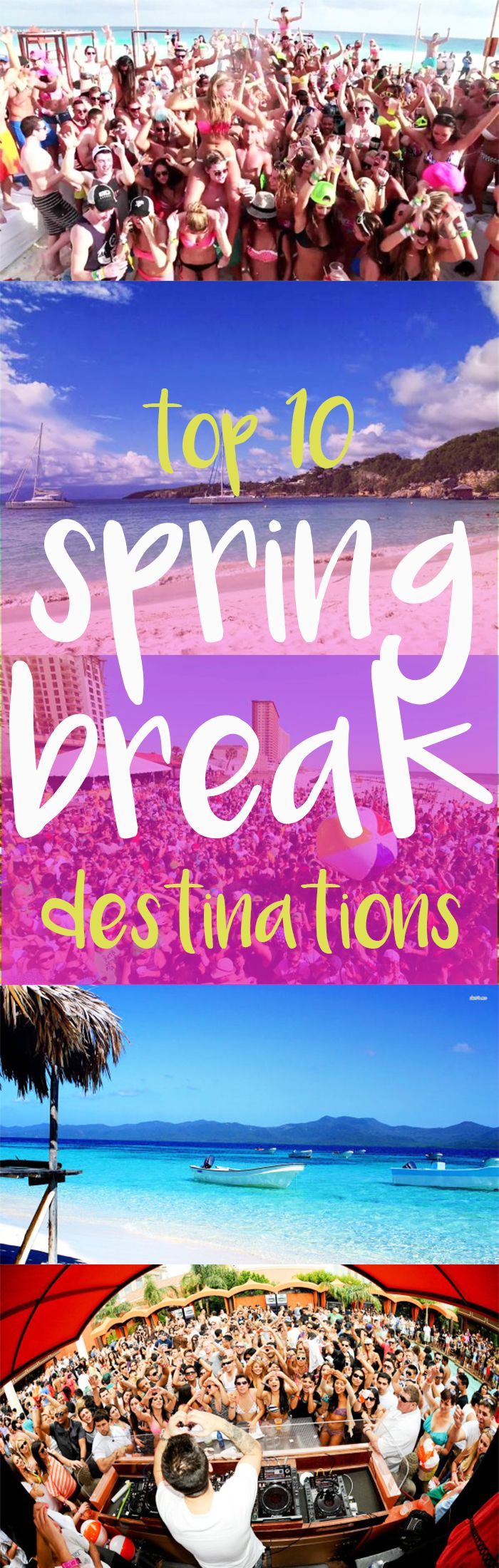 top 10 spring break destinations of all time | places! | pinterest