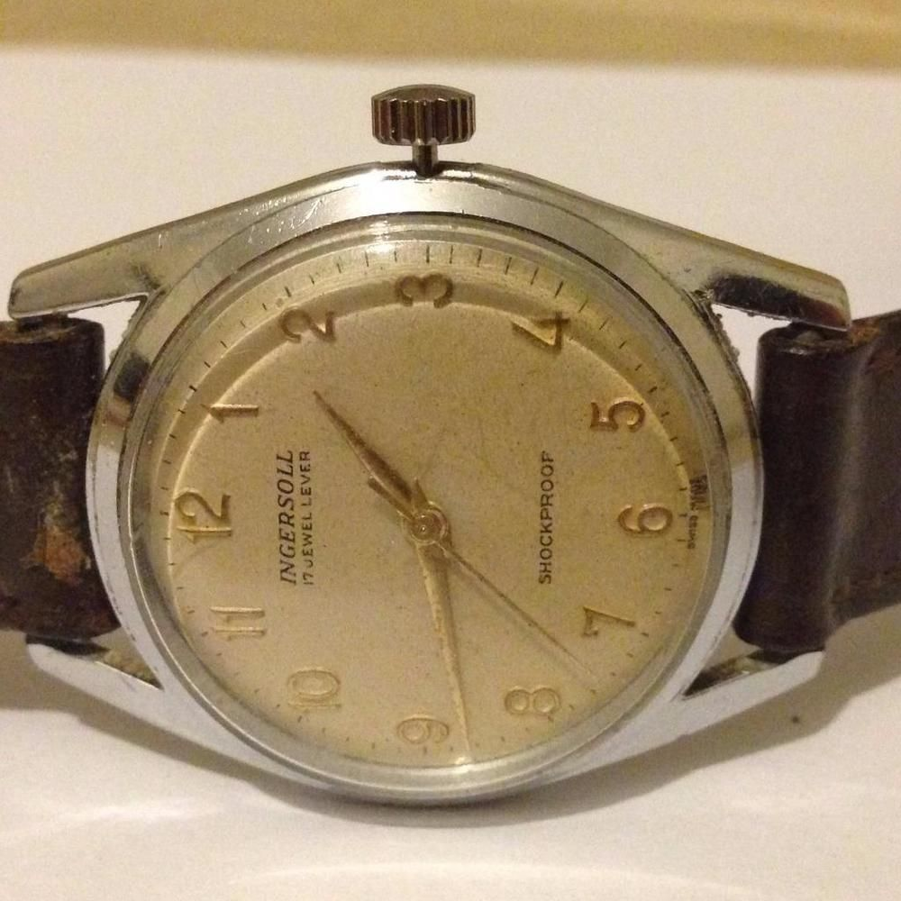 e2660db57 genuine vintage ingersoll 17 jewels shockproof swiss made mens watch  bargain #Ingersoll #classic