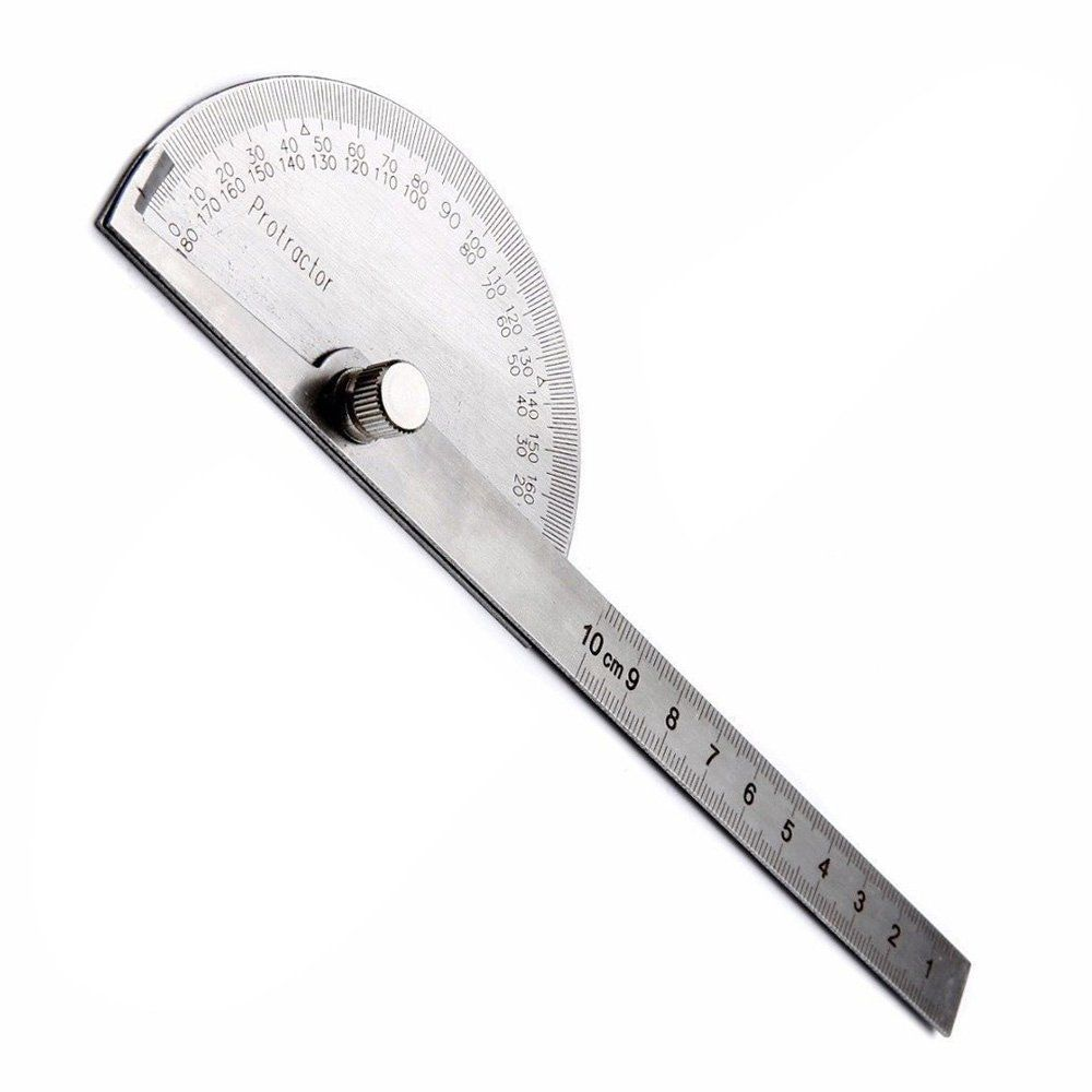 Stainless Steel Protractor for Precision Measuring Marking Layout of Angles New