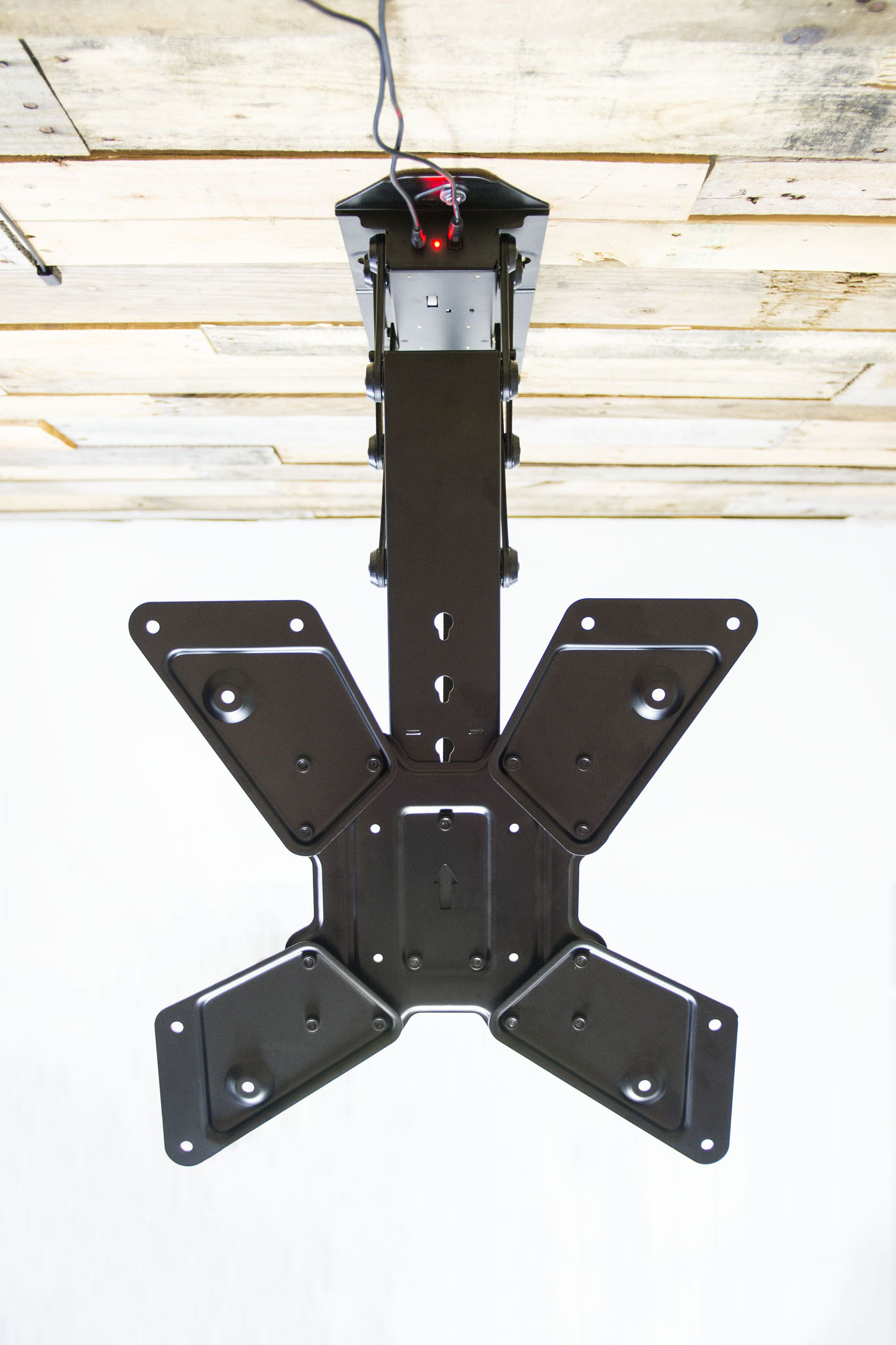 Vivo Electric Motorized Flip Down Pitched Roof Ceiling Tv Mount For