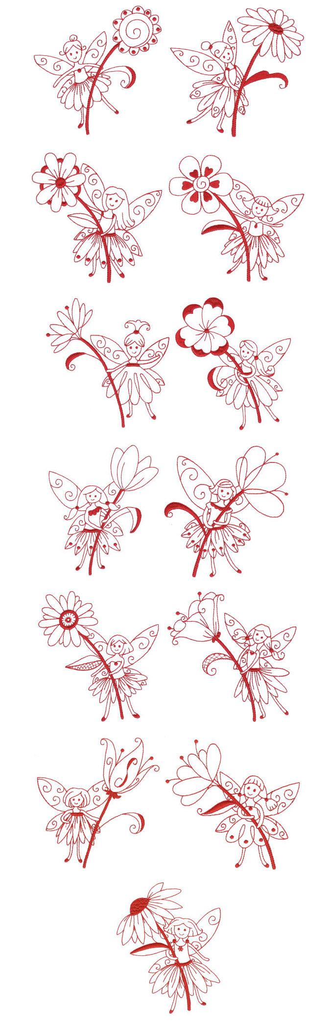 Bordado   Diseños de bordado de la Máquina libre   imaginarias Hadas ...