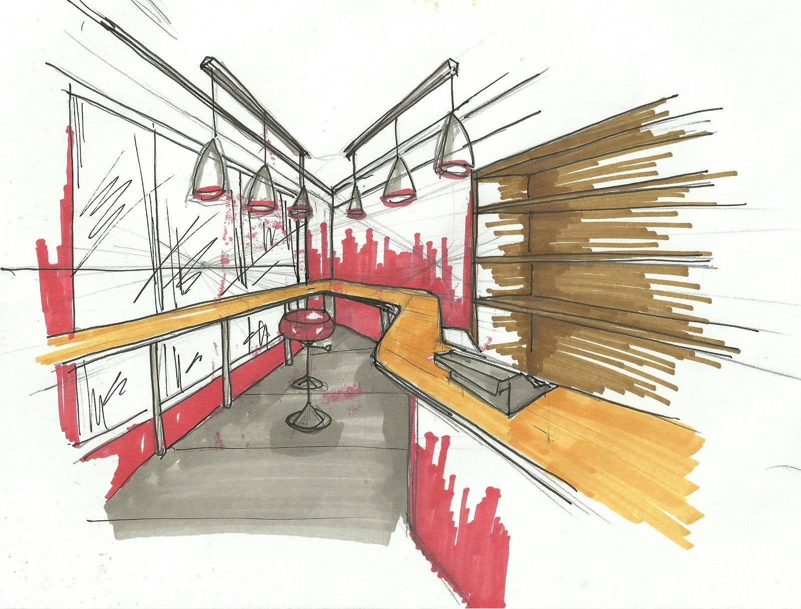 architecture interior design sketches interior design my sketches for current project milk bar