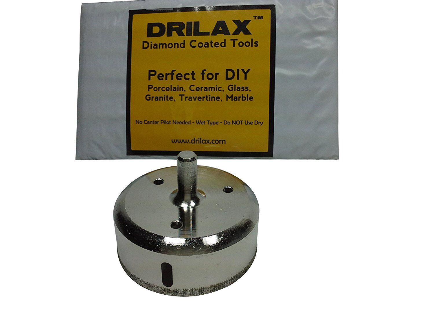 Drilax 2 7 8 Diamond Coated Drill Bit Hole Circular Saw Smaller Than 3 Ceramic Porcelain Tiles Glass Marble Granite Granite Porcelain Tile Porcelain