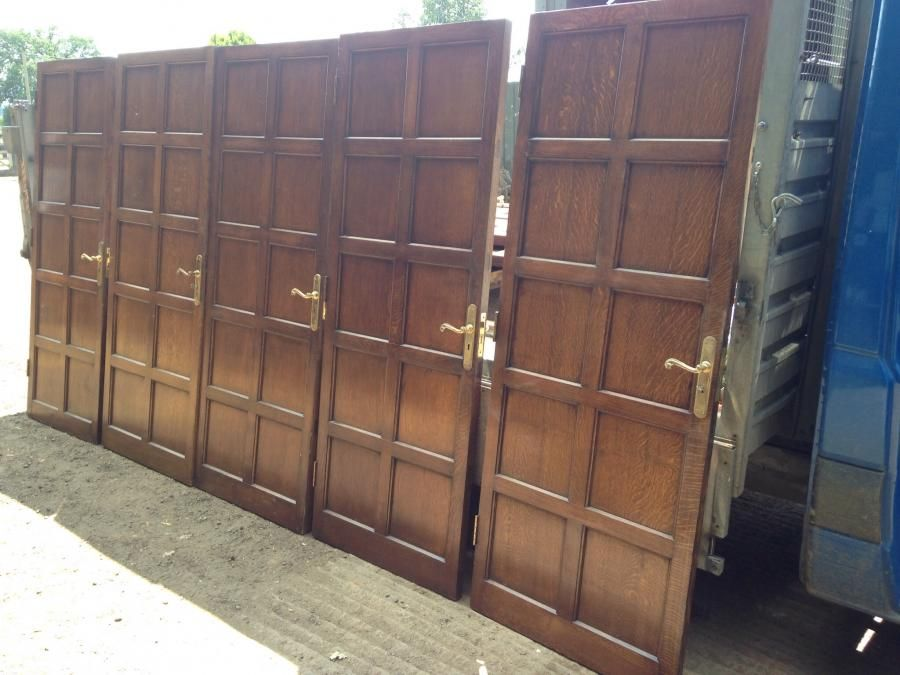 Set Of Reclaimed Panel Oak Doors For Sale On Salvoweb From