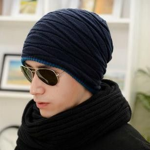 2016 Arrival Beanies Knitted Hat Men's Winter Hats For Women Men Caps Gorros Warm Moto Fur Winter Beanie Fleece Knit Bonnet Hat