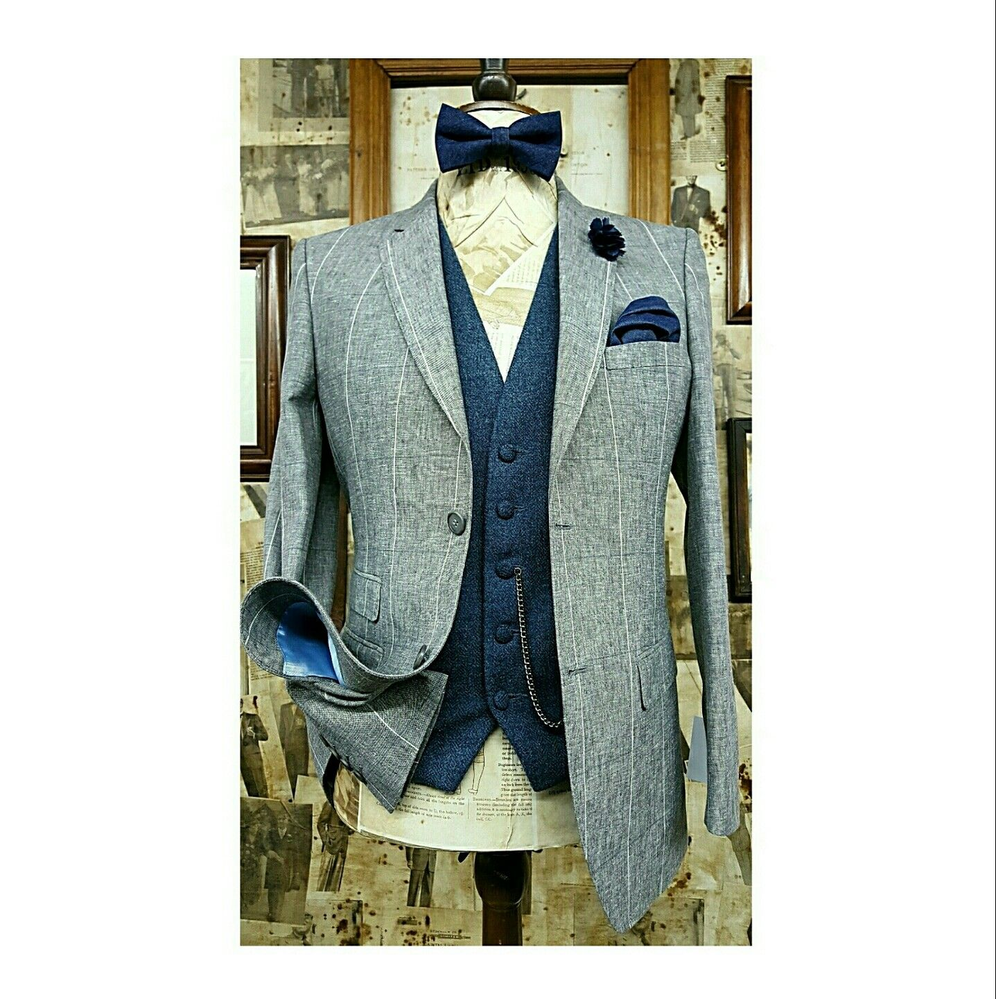 Summer Wedding inspiration. Linen blend suit and Tweed waistcoat ...