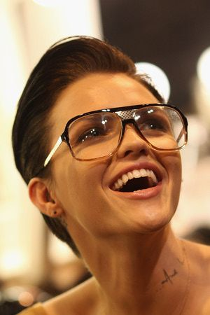 54d2fa956ea How to Find the Most Flattering Glasses for Your Face Shape  Ruby Rose s  Super Cool Frames