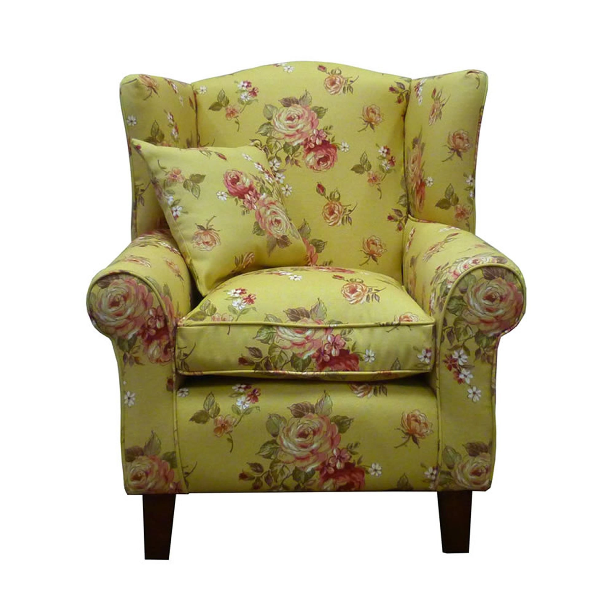 Floral wingback chair 9 inspiration home design and