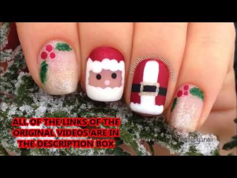 Winter Christmas Holiday Nail Art Compilation Meliney How To