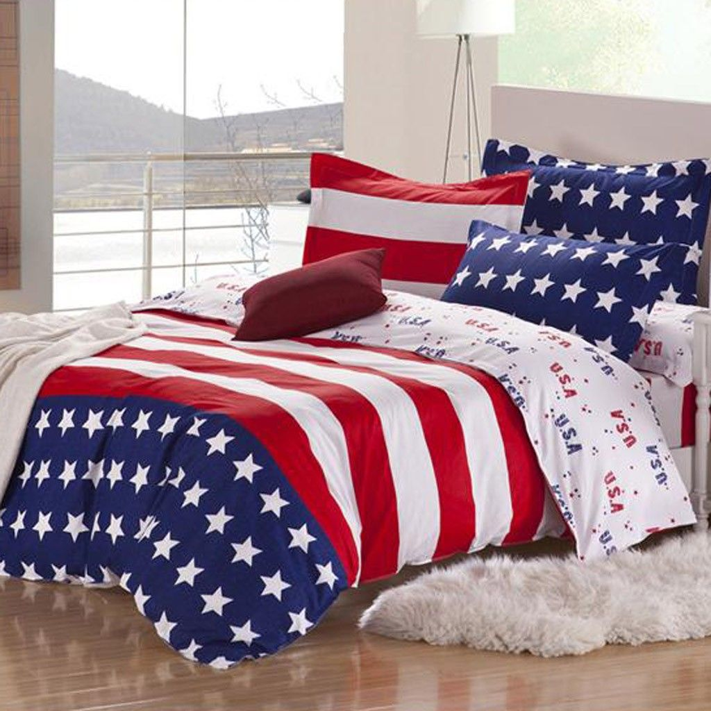 Share This Page With Others And Get 10 Off American Flag Bedding